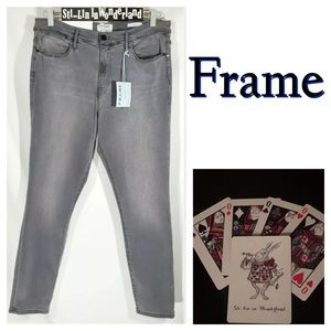 New Frame Le High Skinny Jeans Hi Rise Denim 33
